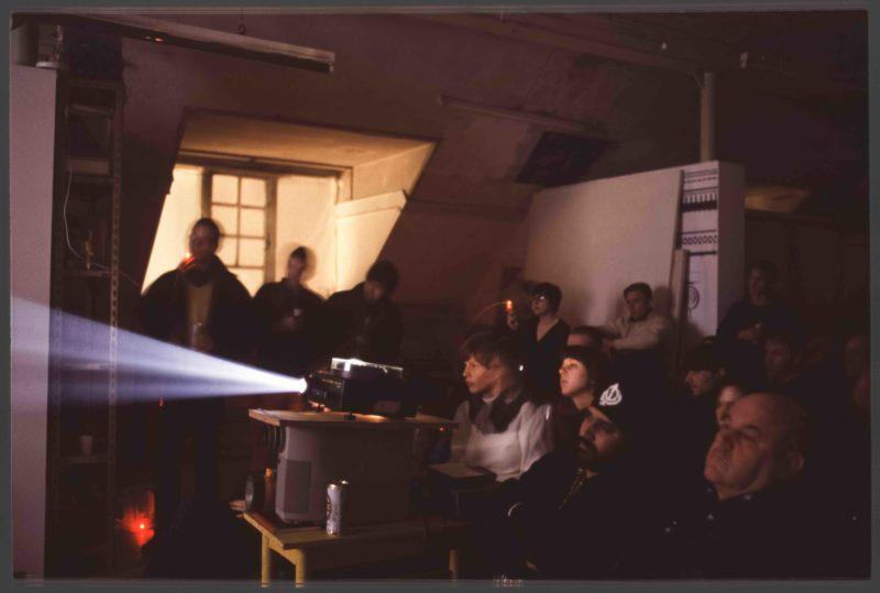 Birgit Megerle The Amusement projected slide show at Flourish Nights 2003 Courtesy of Lucy Mc Kenzie