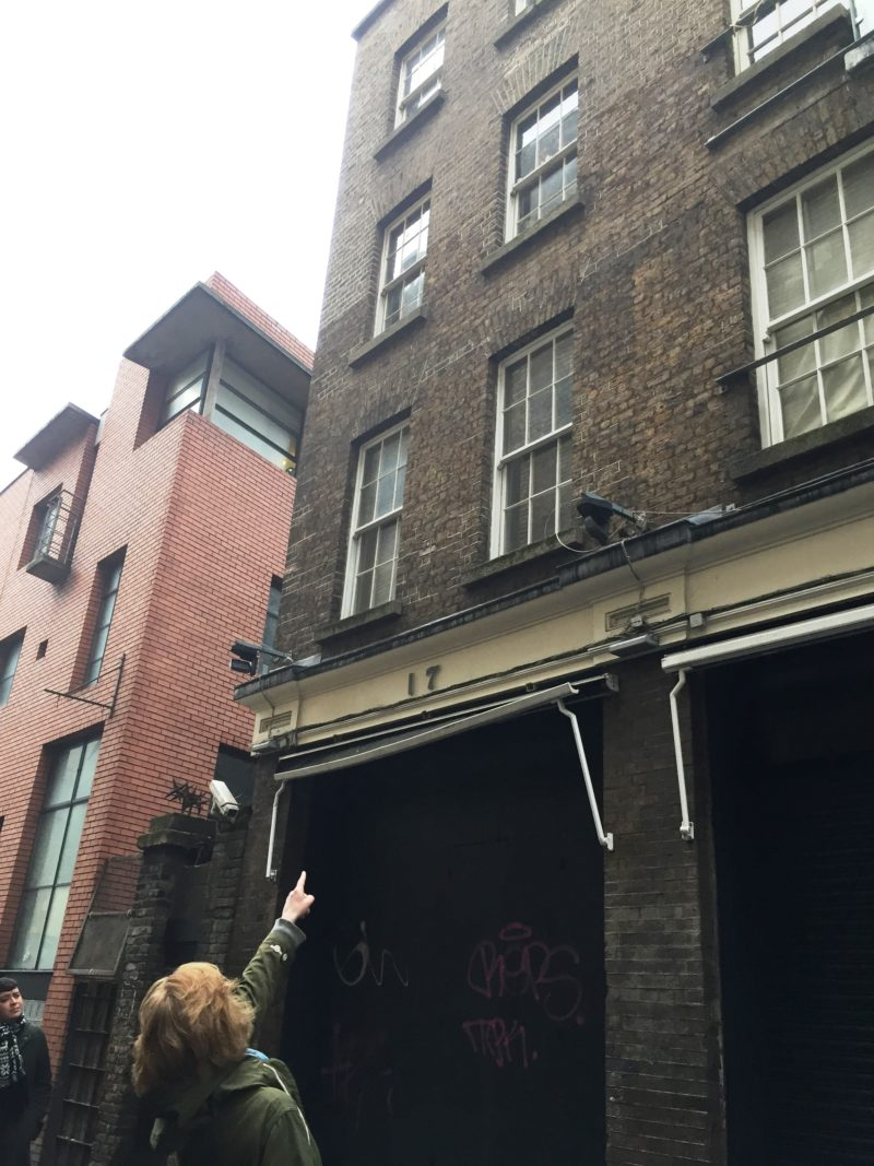 Grainne Shaffrey Leading The Red Bricks And Railings Tour Templebar Dublin 13 January 2018