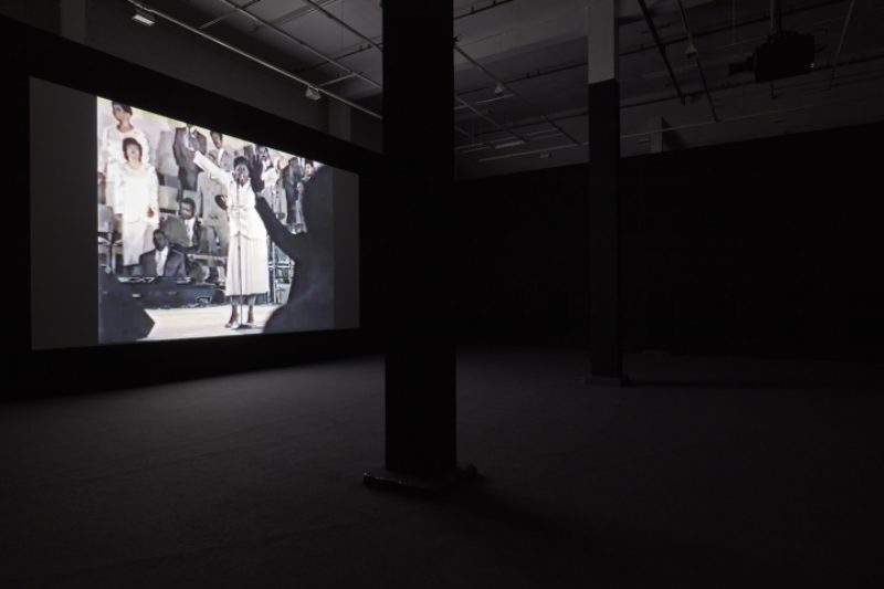 Arthur Jafa, Installation view Love Is The Message, The Message Is Death (2016), MOCA Los Angeles, 2016. Image courtesy the artist and Gavin Browns Enterprise, New York/Rome. Image Thomas Mller