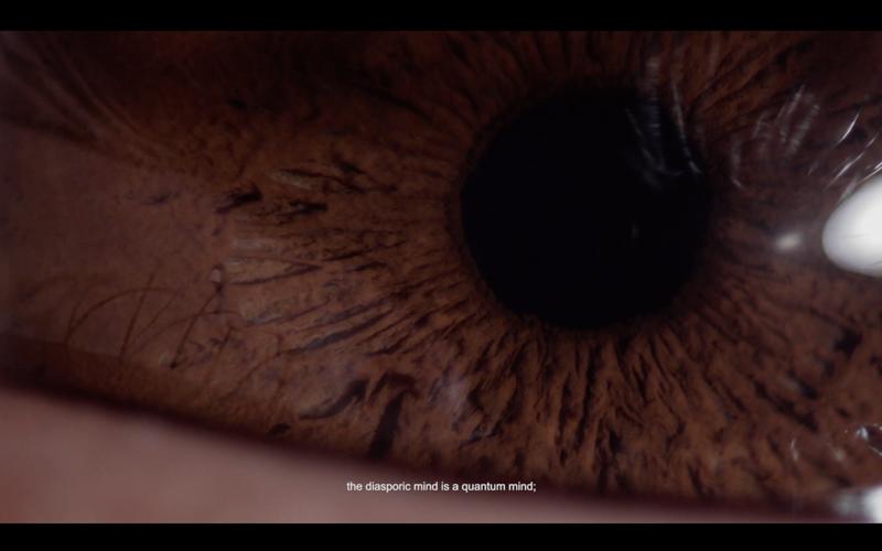 'the diasporic mind is a quantum mind;' film still. Courtesy