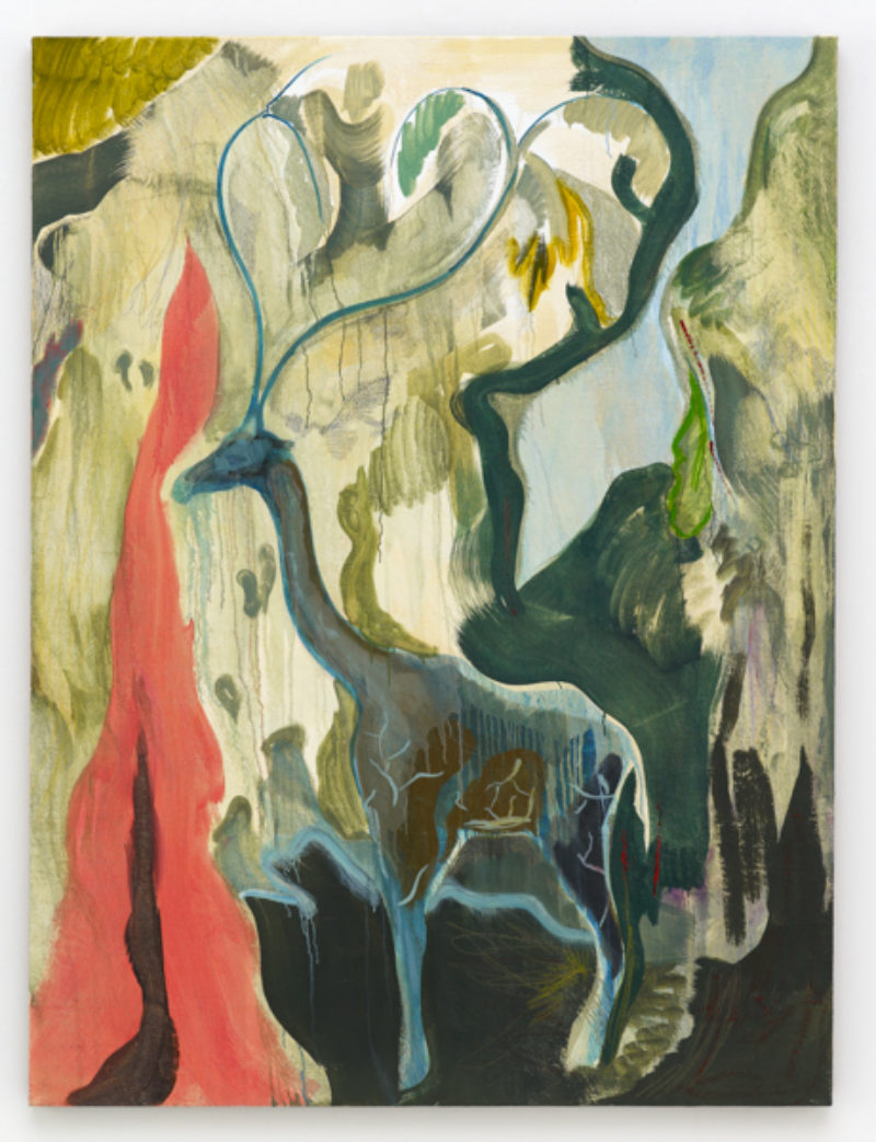 Michael Armitage Giraffe Grows A Doum Palm 2014 Medium Res