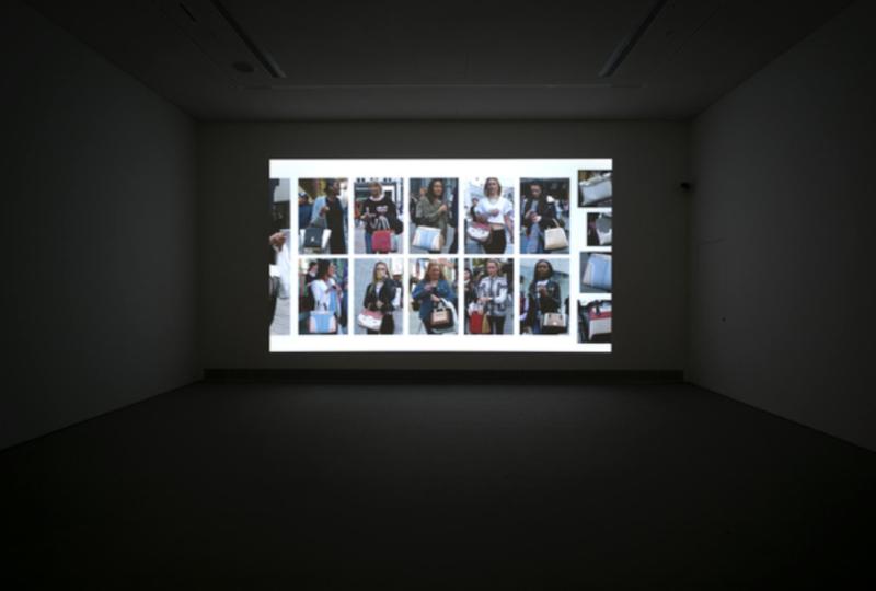 Hans Eijkelboom, 'The Street & Modern Life, Birmingham, U.K.', 2014, digital video, installation view, EMSTNational Museum of Contemporary Art, Athens, documenta 14. Photo Mathias Vlzke