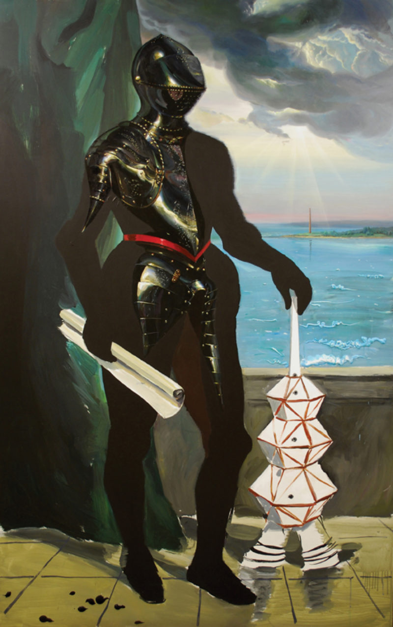 Andro Semeiko, 'Unveiling Model of Rocket MT2010', 2010, acrylic and oil on board