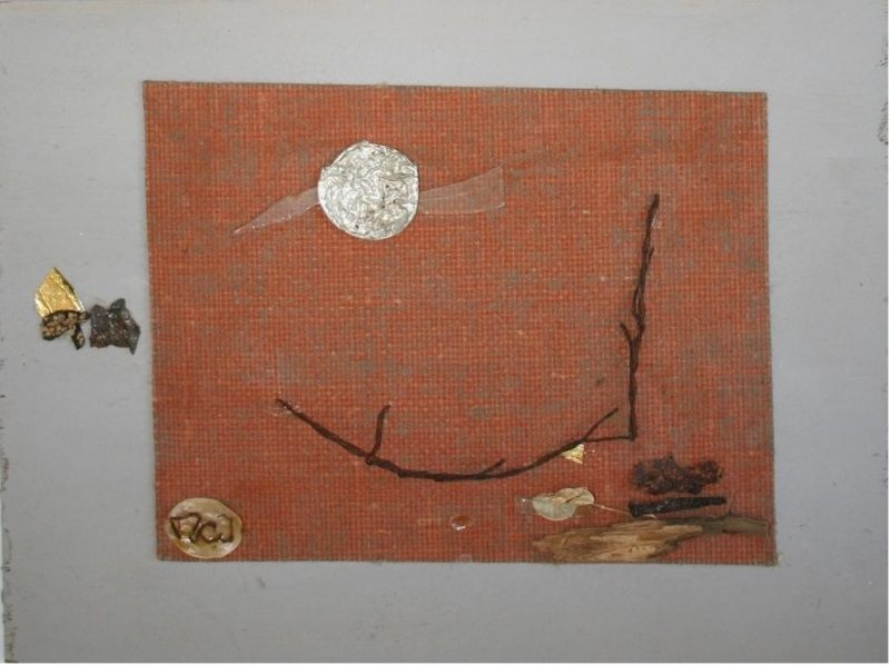 Taits found object collages
