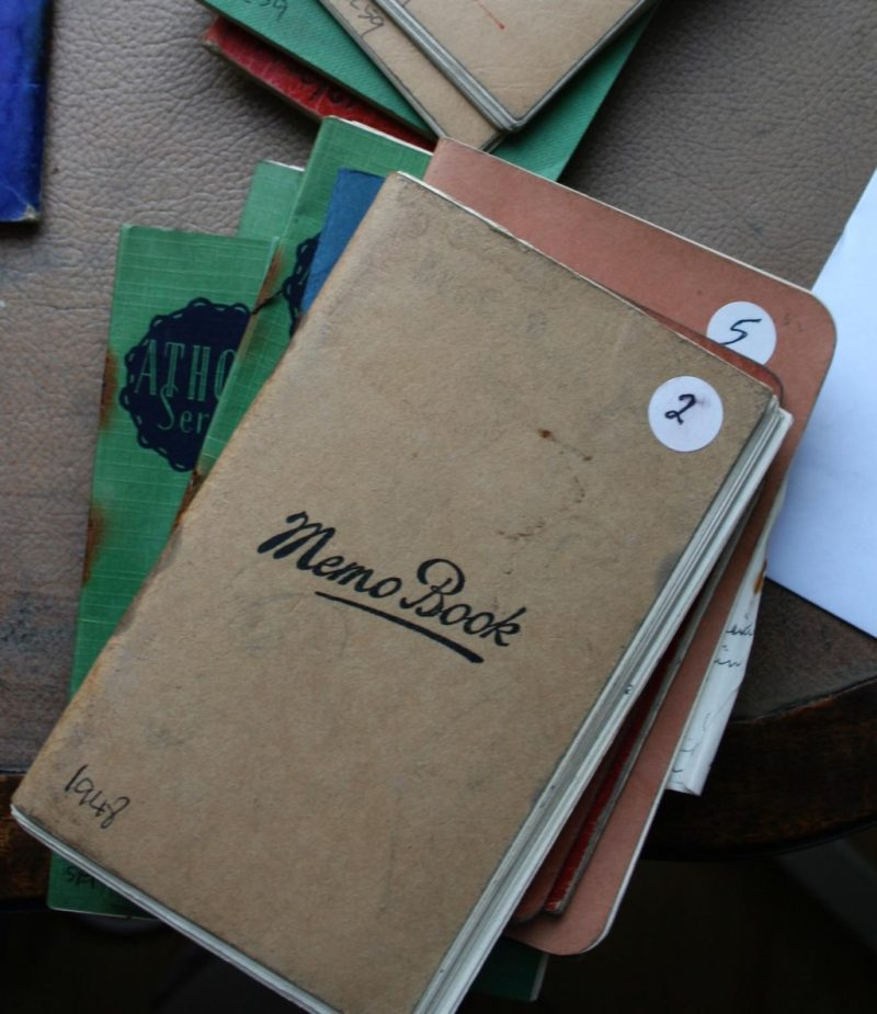 A selection of Taits notebooks