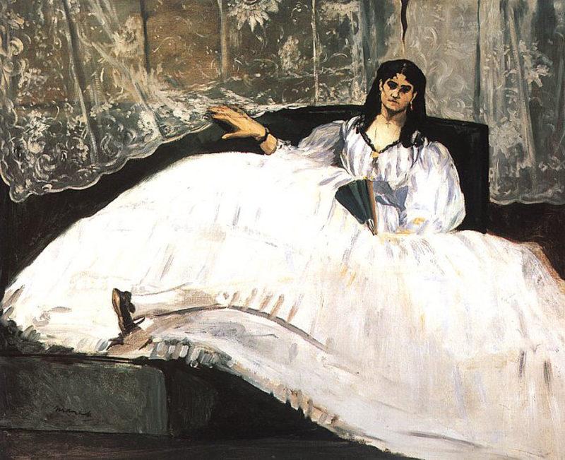 Portrait of jeanne duval 1862